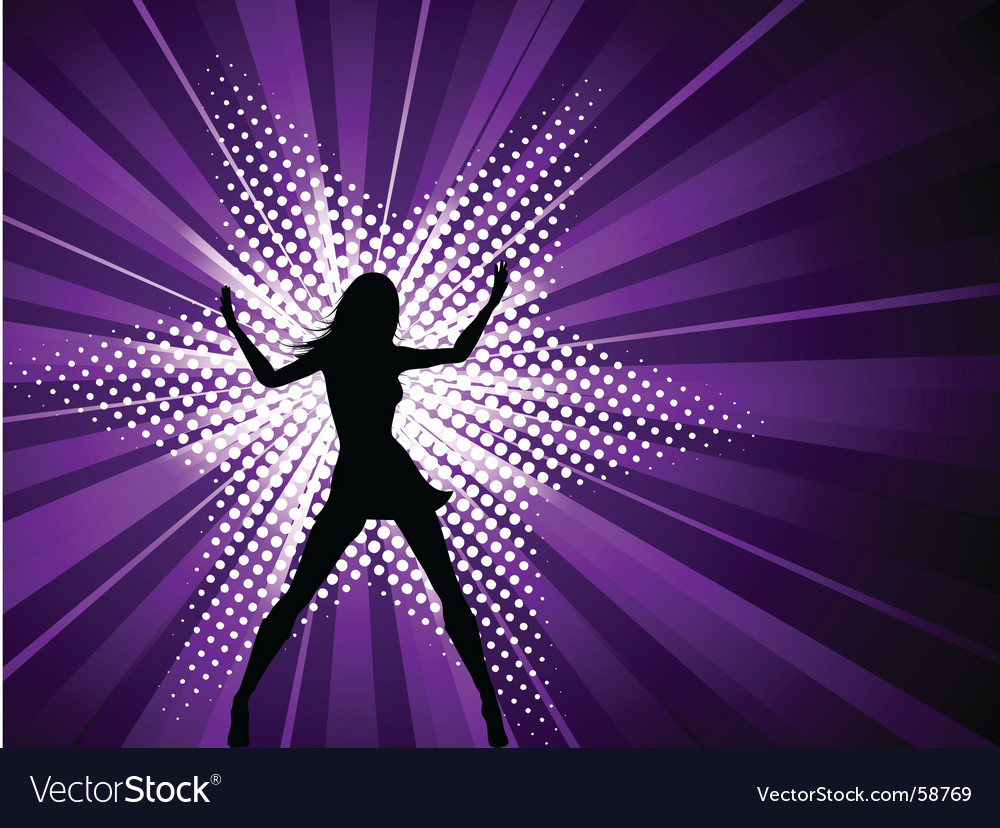 Sexy female on starburst vector image