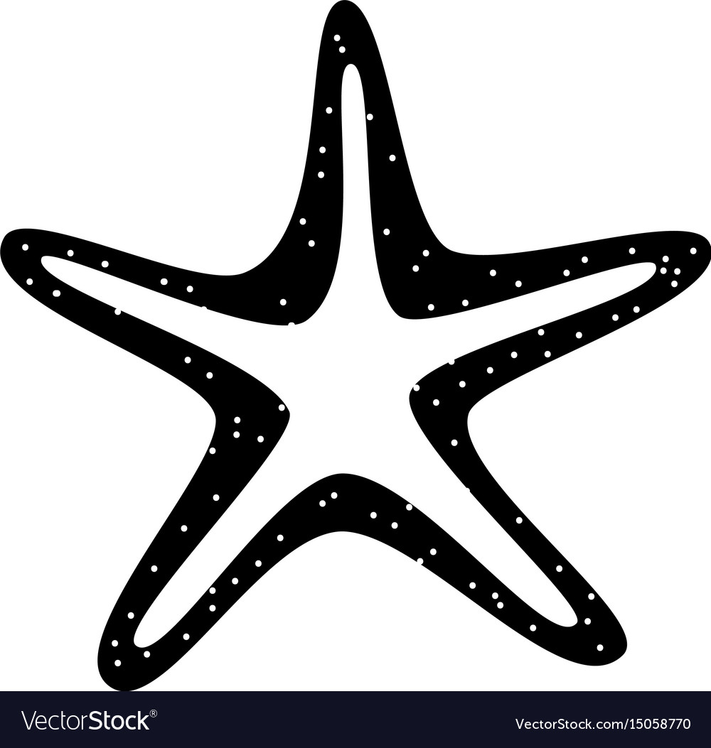 Black Starfish Vector