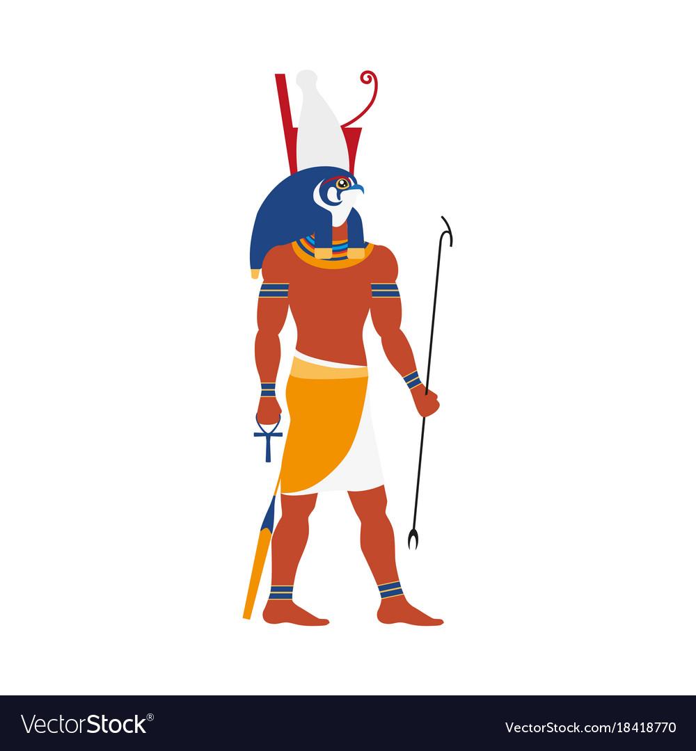 Flat horus egypt god icon royalty free vector image flat horus egypt god icon vector image biocorpaavc Images