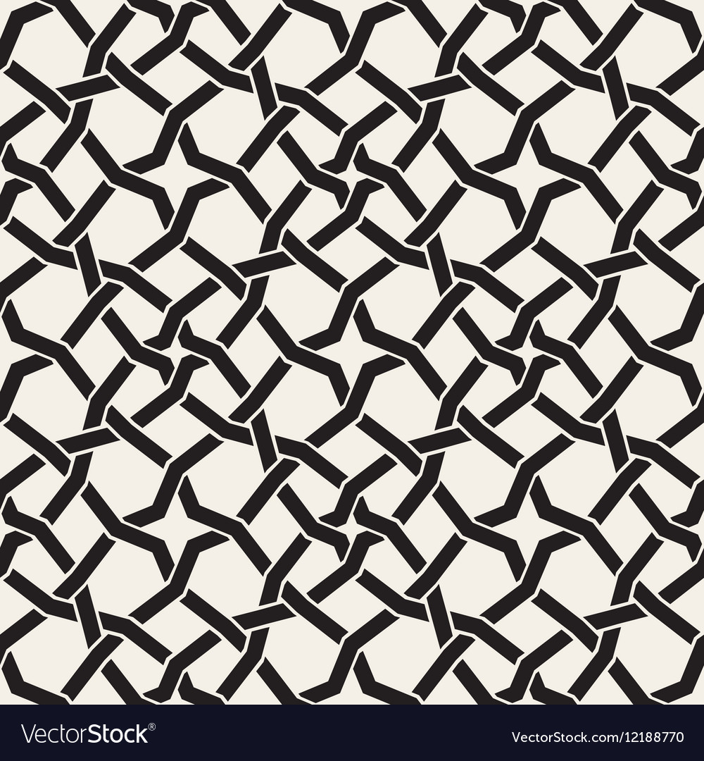 Seamless Black and White Islamic Star vector image