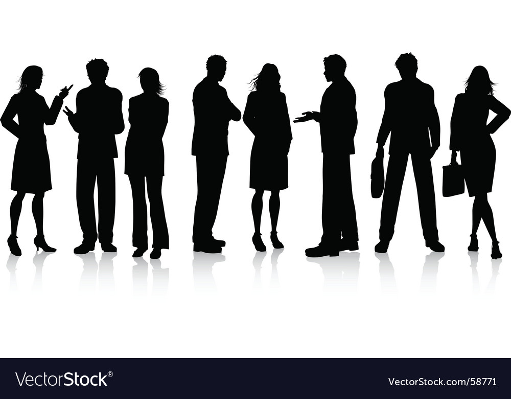 Business conversations vector image