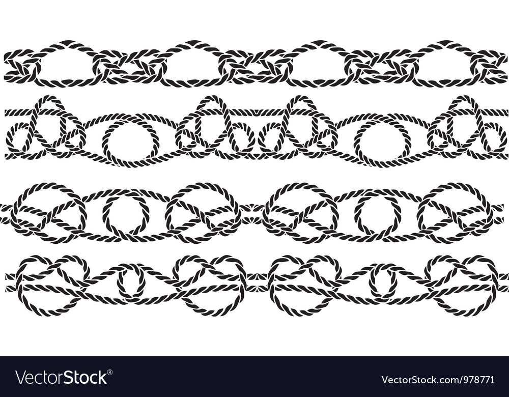 Sea knott pattern vector image