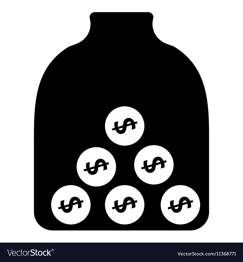 Money piggy bank icon simple style vector image