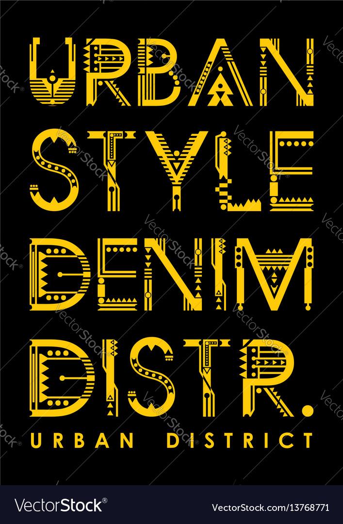 Typography urban district vector image