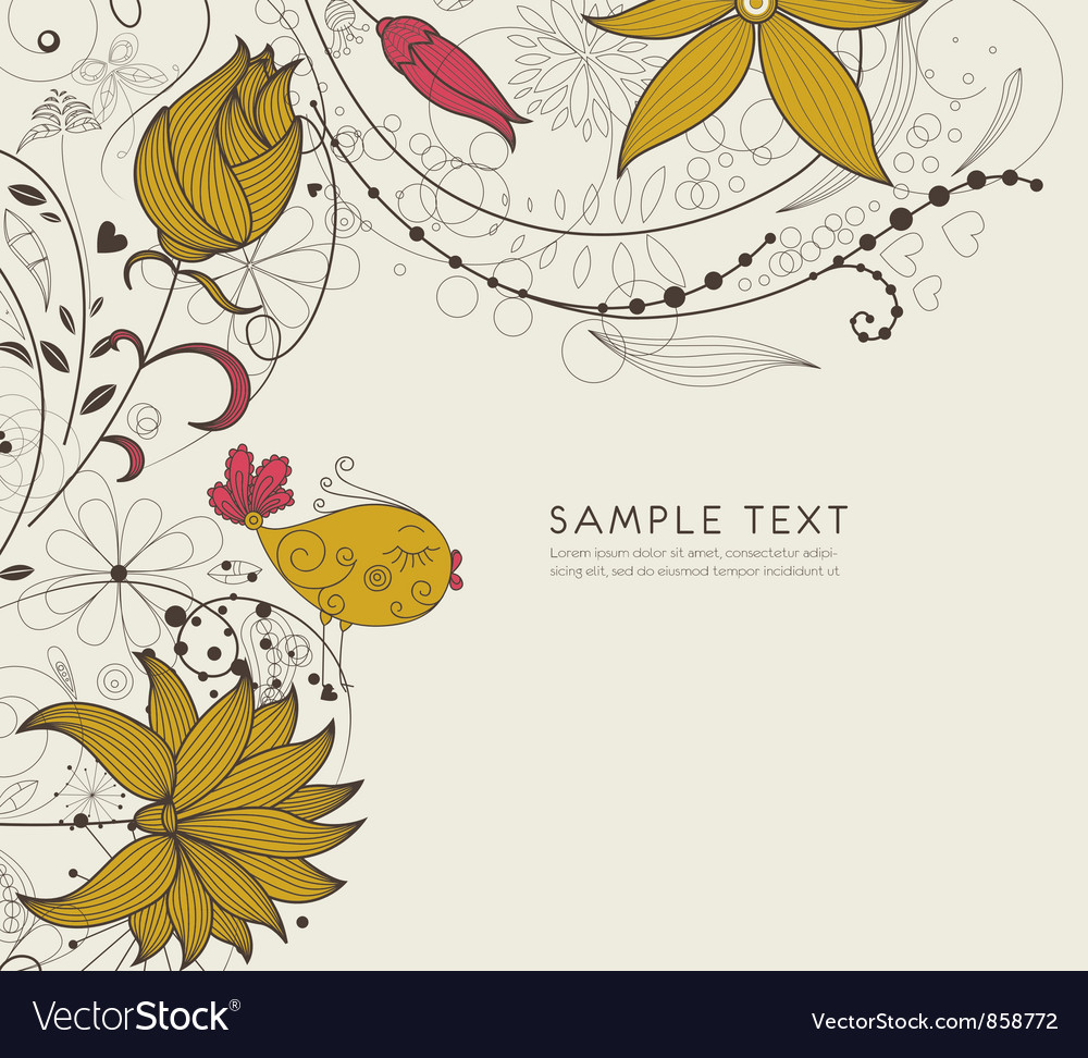 Abstract background with bird vector image