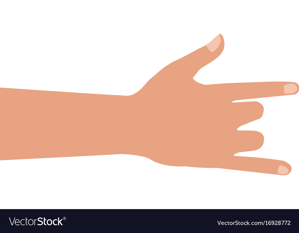 Human hand rock and roll gesture icon vector image
