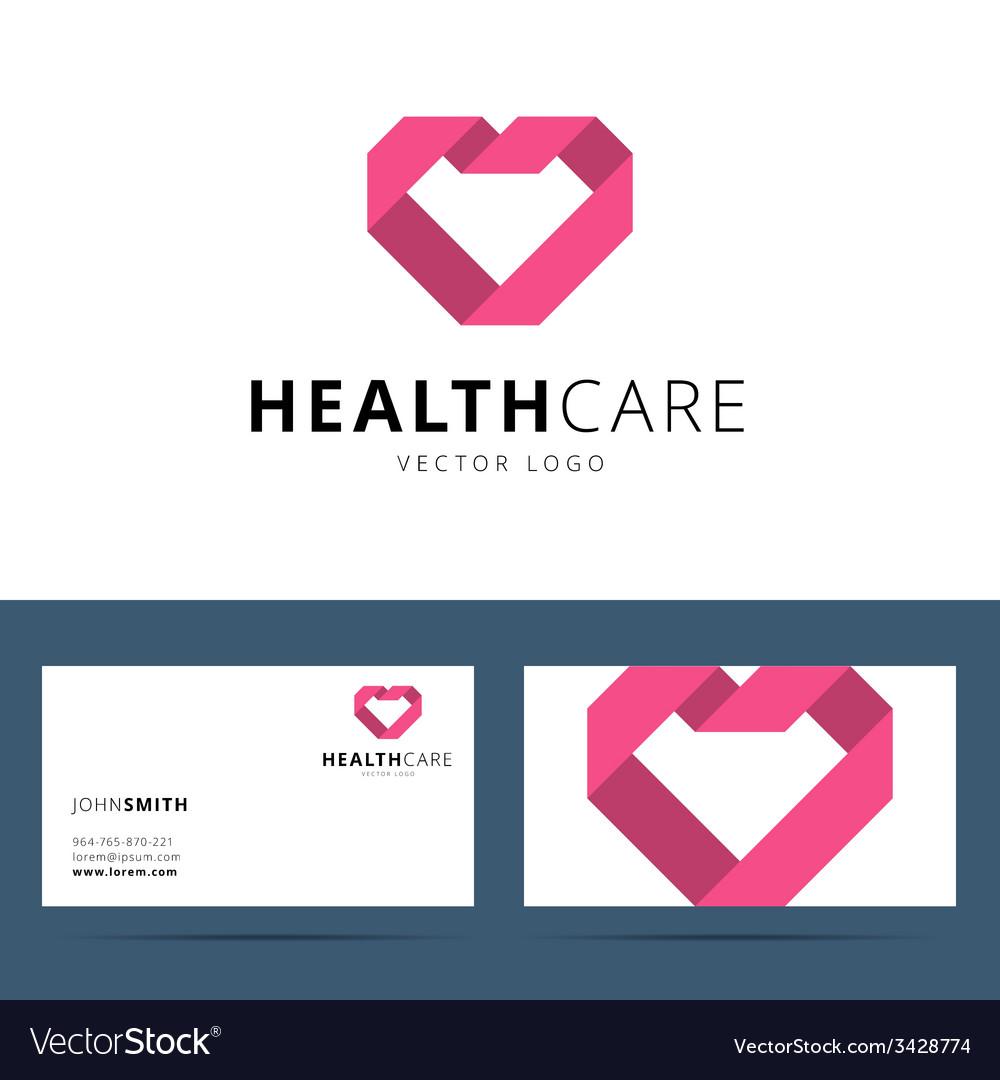 Health care logo template vector image
