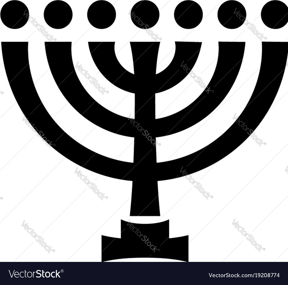 Menorah ancient hebrew sacred seven candleholder vector image biocorpaavc Image collections