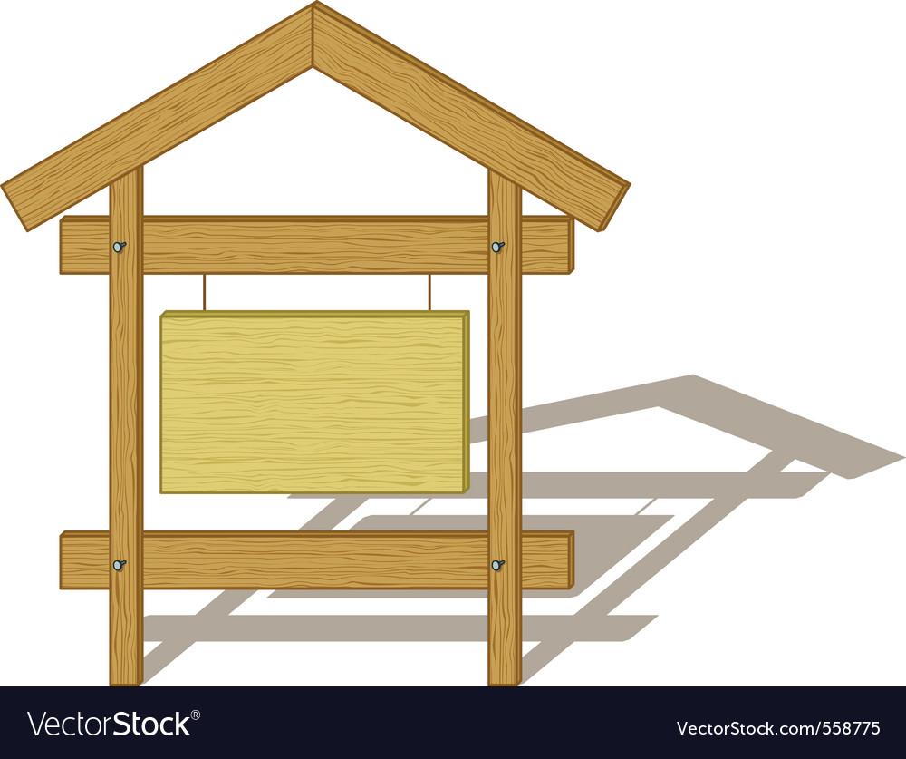 Wood billboard vector image