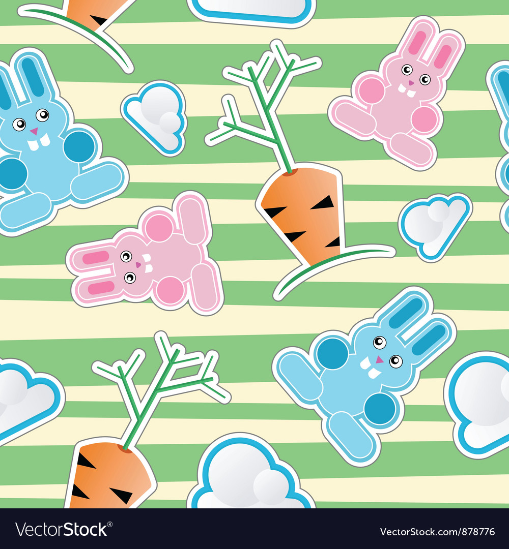 Seamless kid pattern vector image