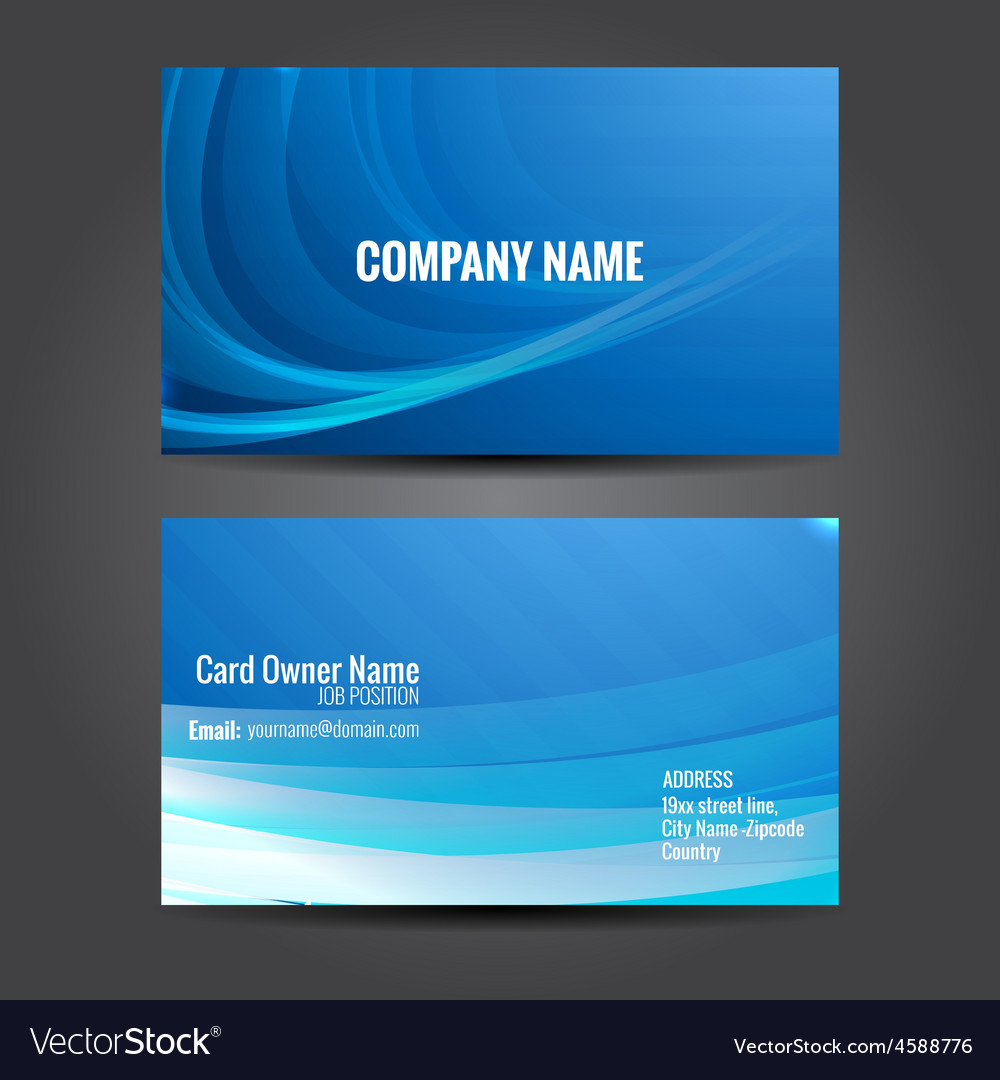 Attractive business card template Royalty Free Vector Image