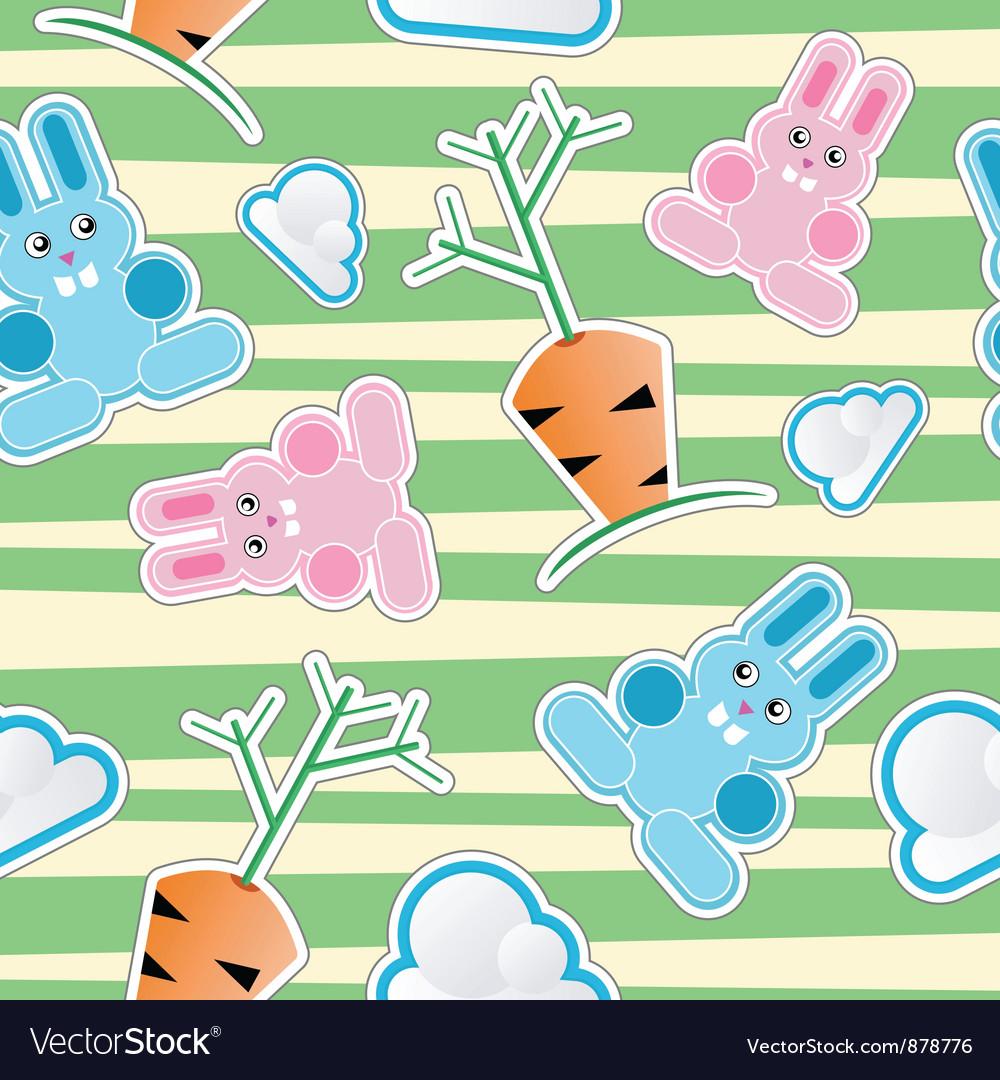 Seamless kid pattern vector image