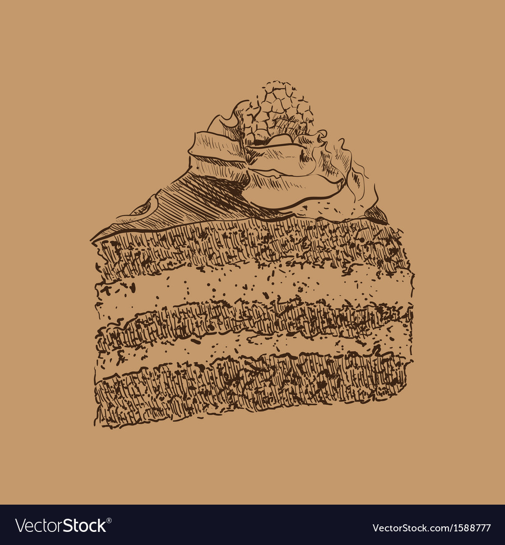 Cake sketch Vector Image