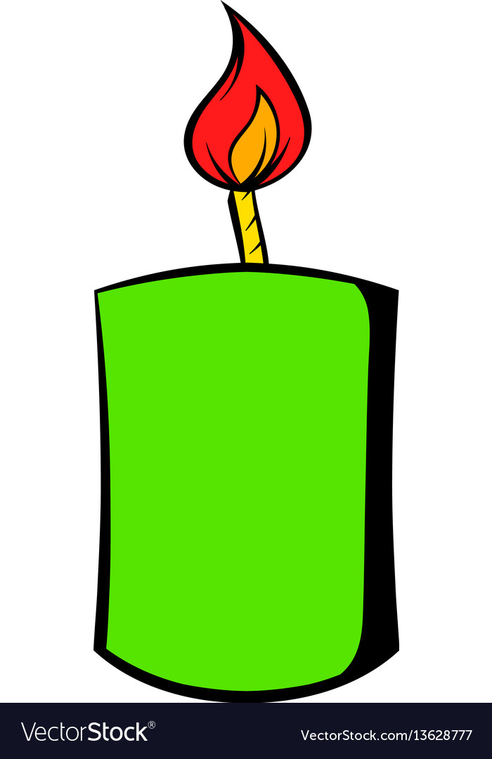 Burning candle icon cartoon vector image
