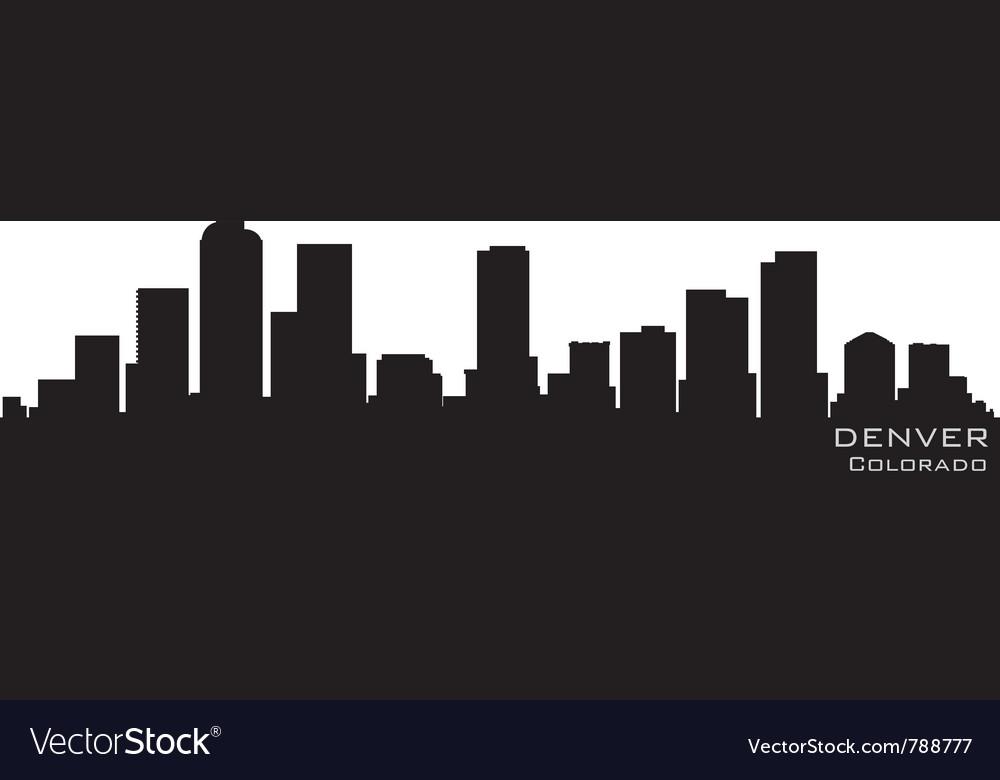 Denver colorado skyline detailed silhouette vector image