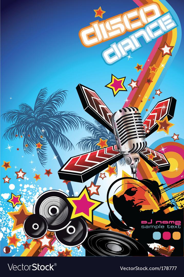 DJ flyer vector image