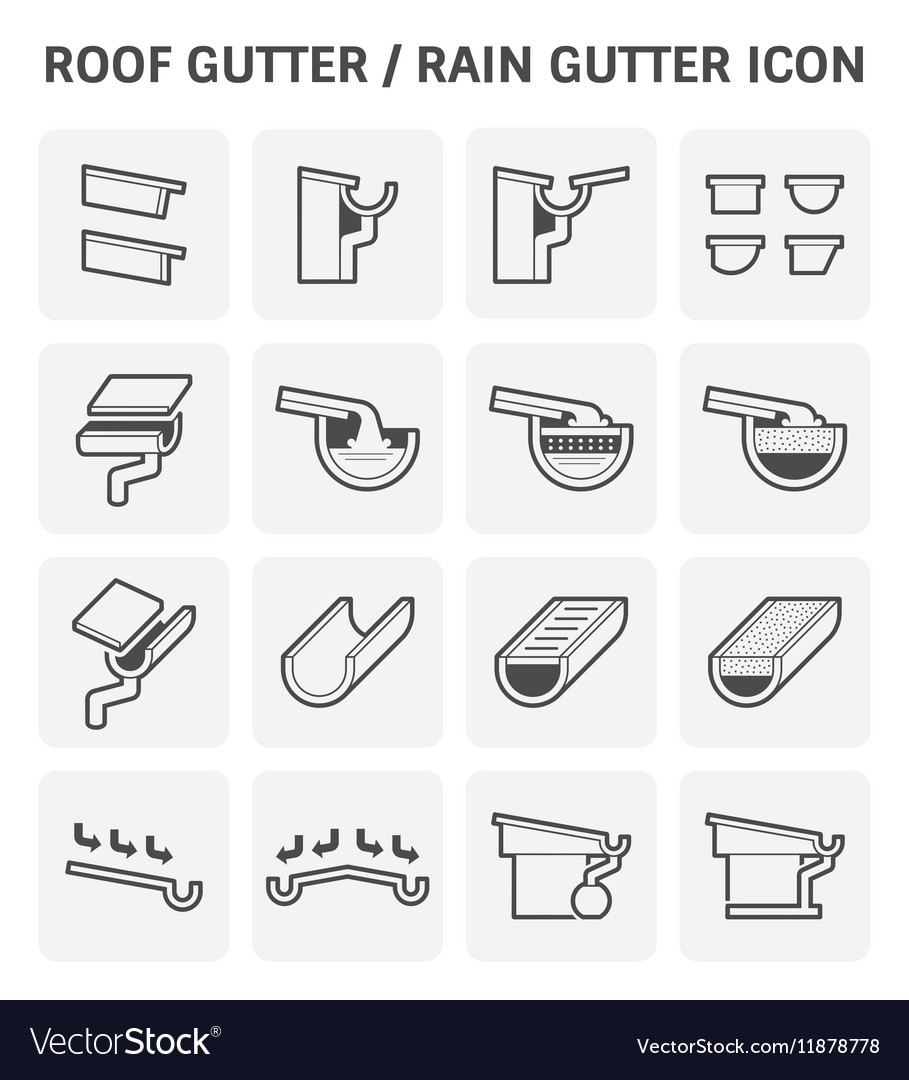 roof gutter icon royalty free vector image vectorstock