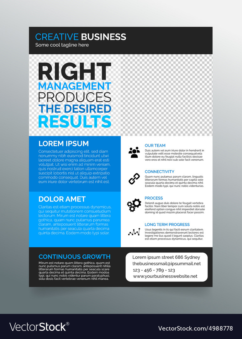 Business flyer template A4 modern blue design Royalty Free – Blue Flyer Template