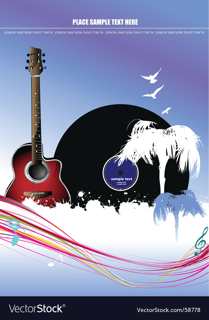 Music cover vector image
