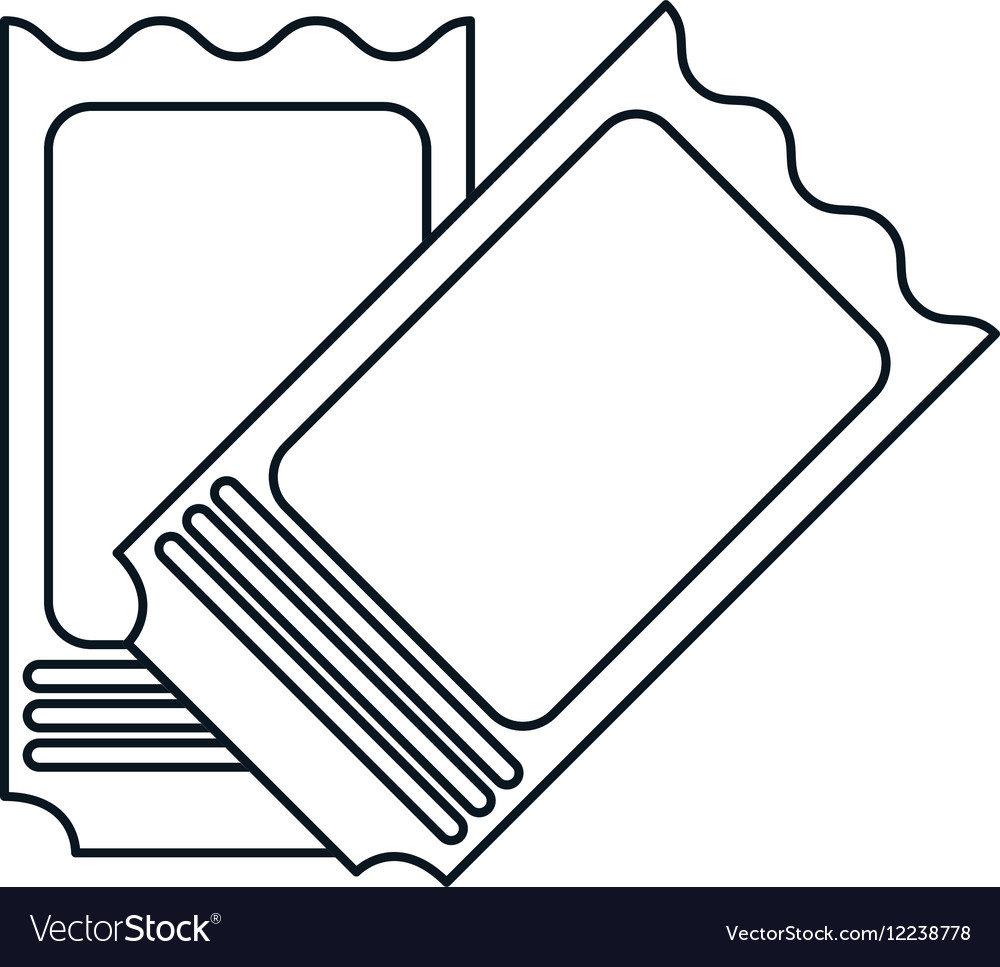 two ticket stadium american football outline vector image - Football Outline