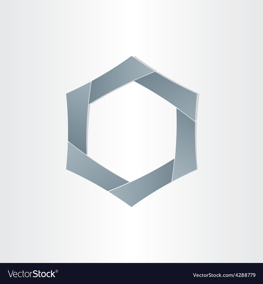 Abstract hexagon shape background symbol vector image