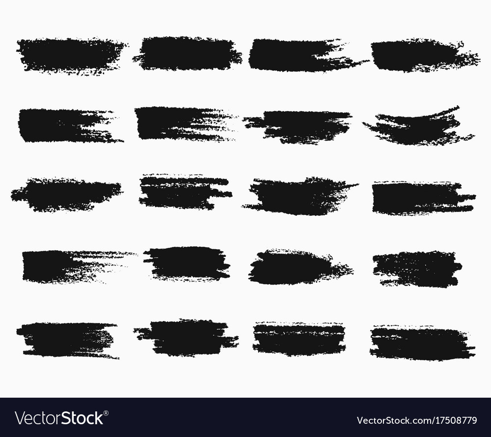 Brush strokes or pen scratches of ink vector image