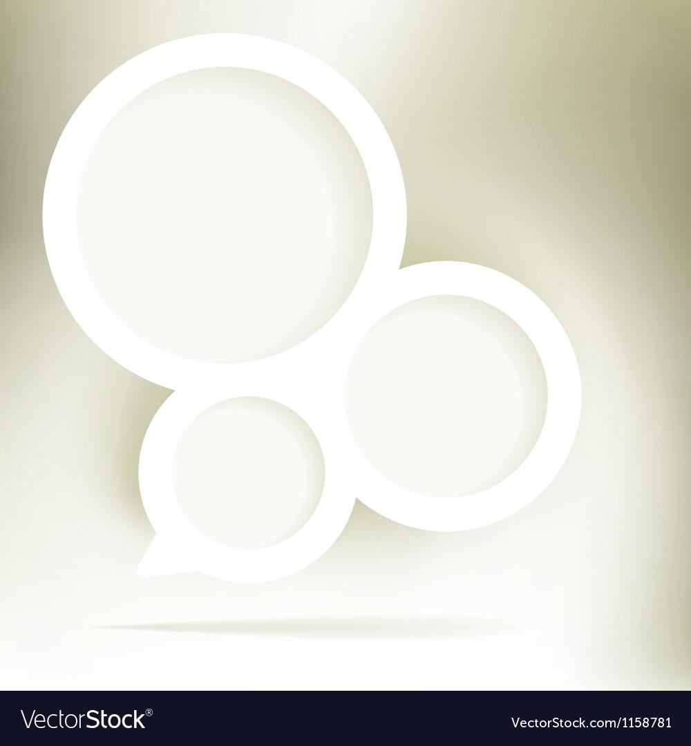 Gold elegant speech bubble  EPS8 vector image