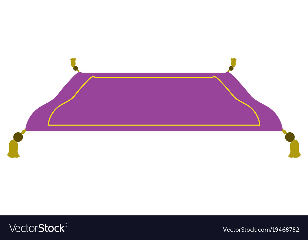 Isolated magic carpet vector image