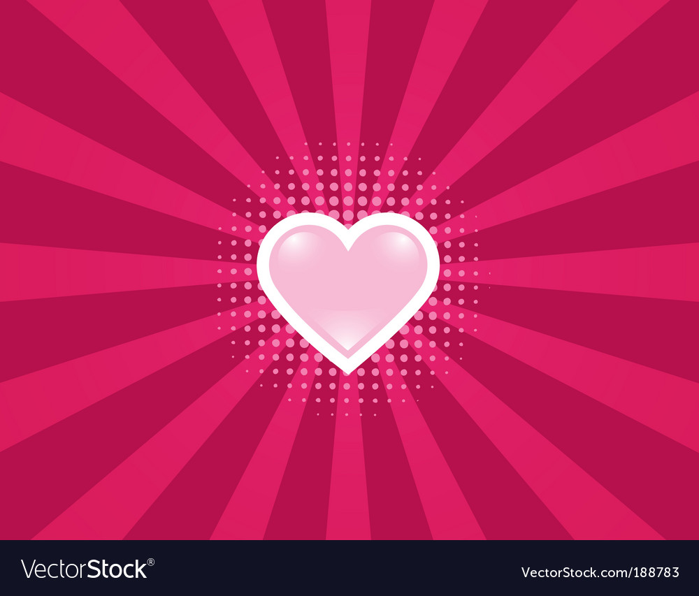 Heart rays vector image
