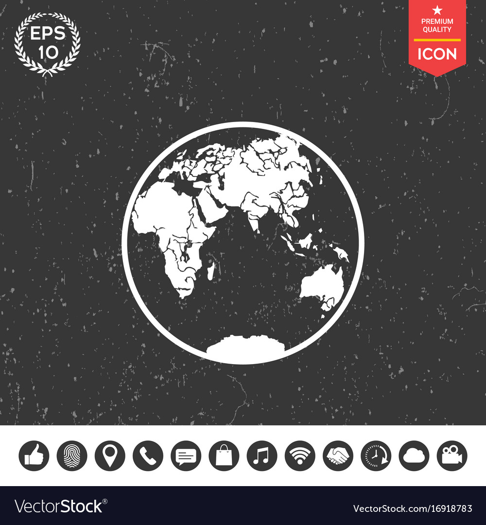 Earth logo icon vector image