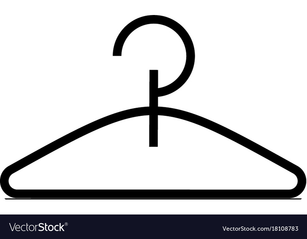 Hanger icon black sign on vector image
