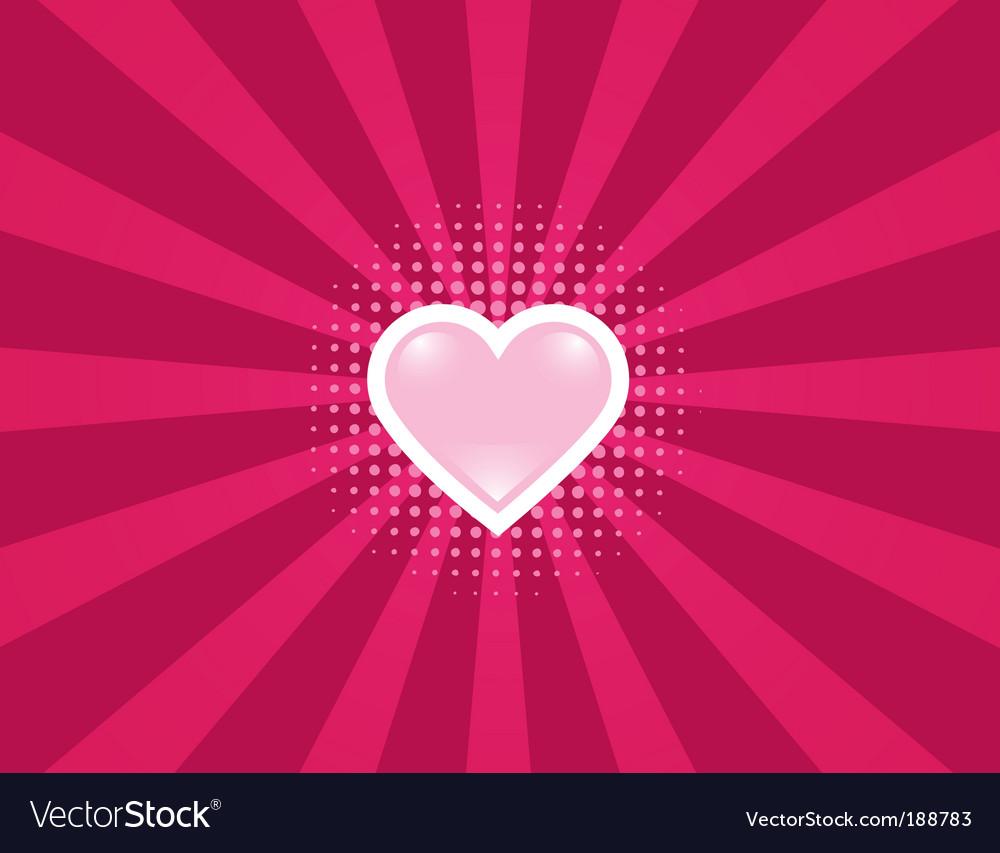 Heart rays vector image