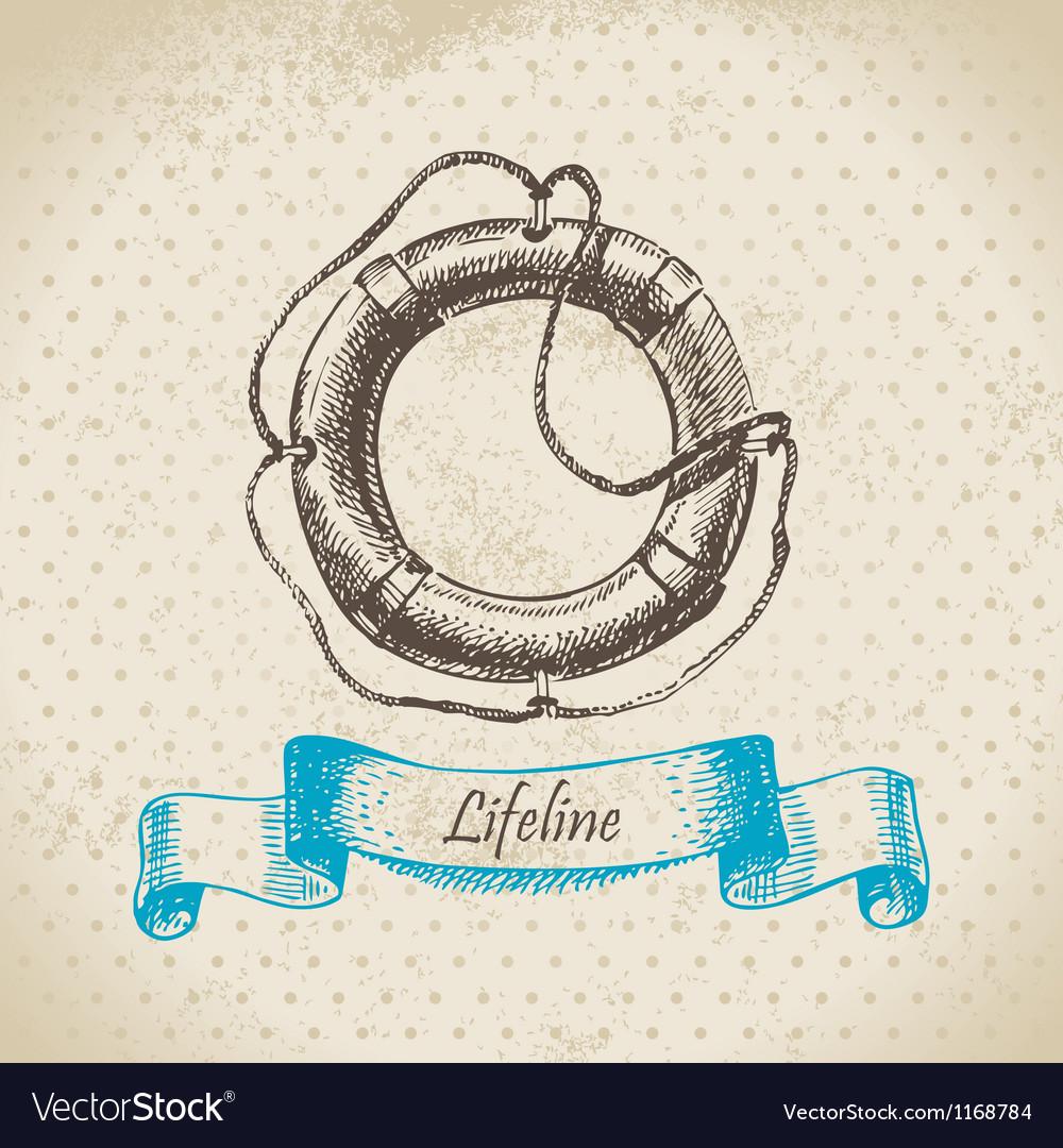 Lifeline hand drawn Vector Image