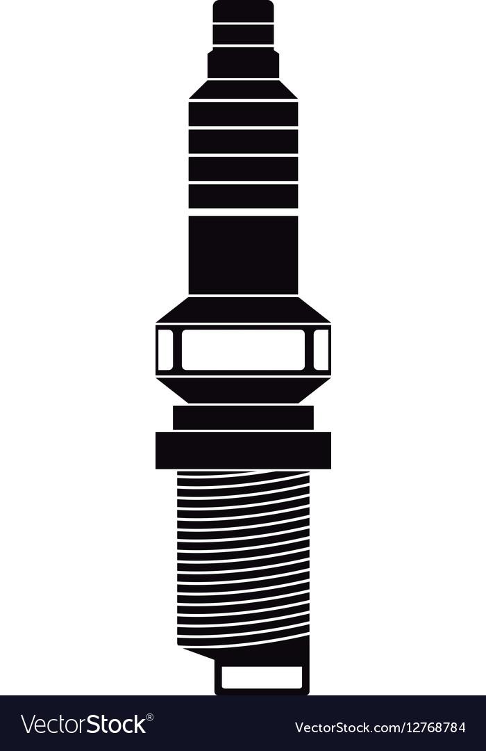 Car spark plug vector image