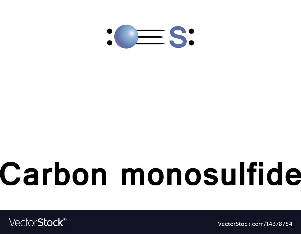 Carbon monosulfide molecule vector image