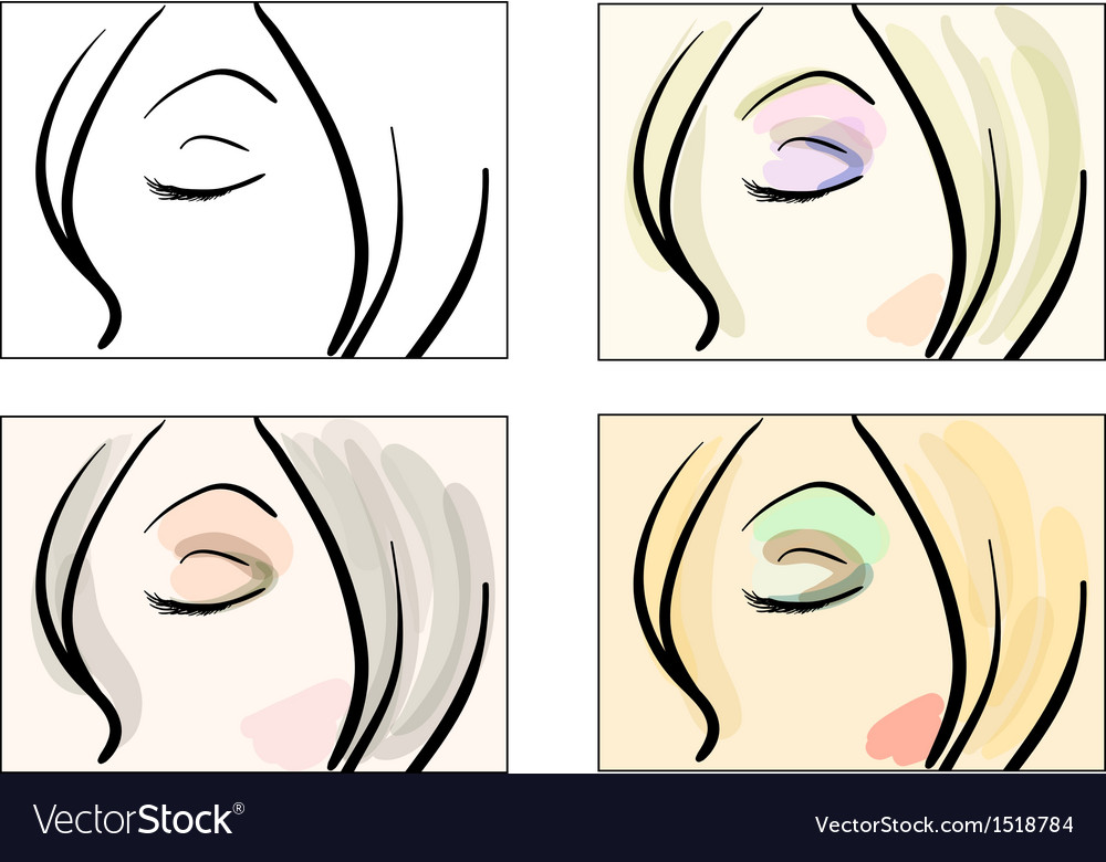 Make up patterns vector image