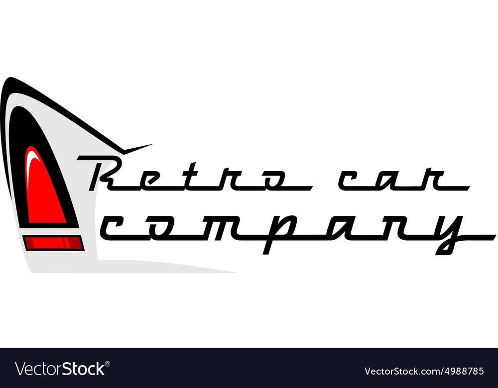 Retro car logo vector image