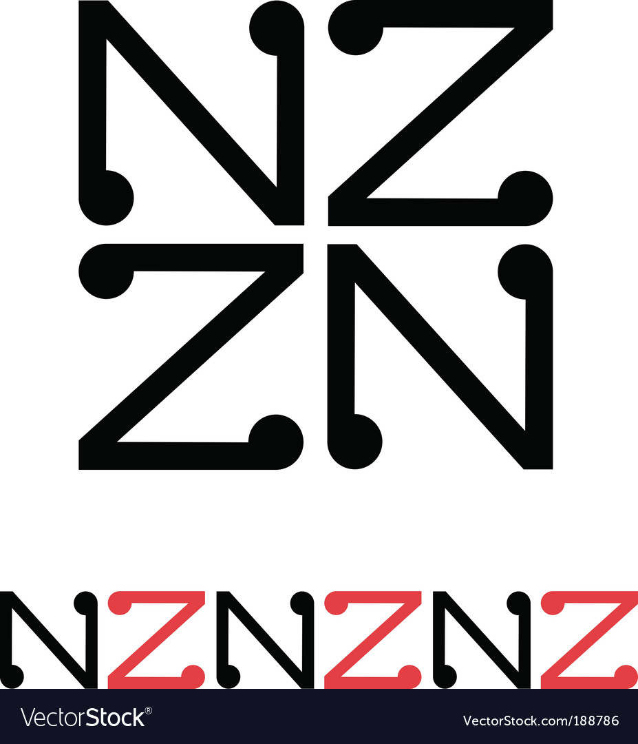 New Zealand Aotearoa design vector image