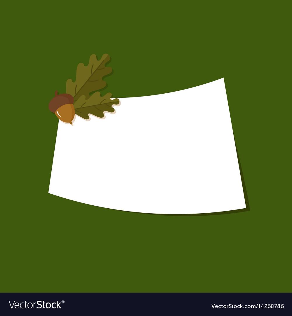Greetings card with oak acorns vector image