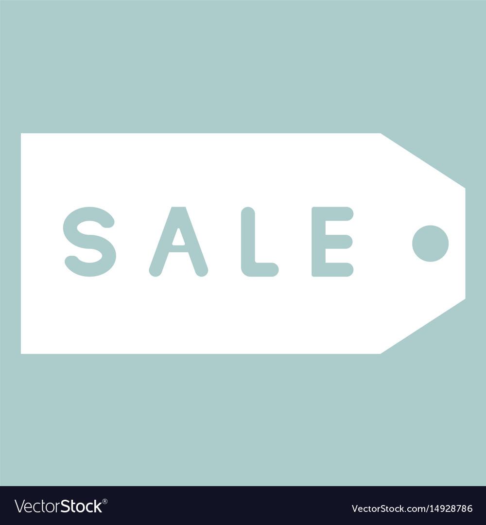 Label sale the white color icon vector image