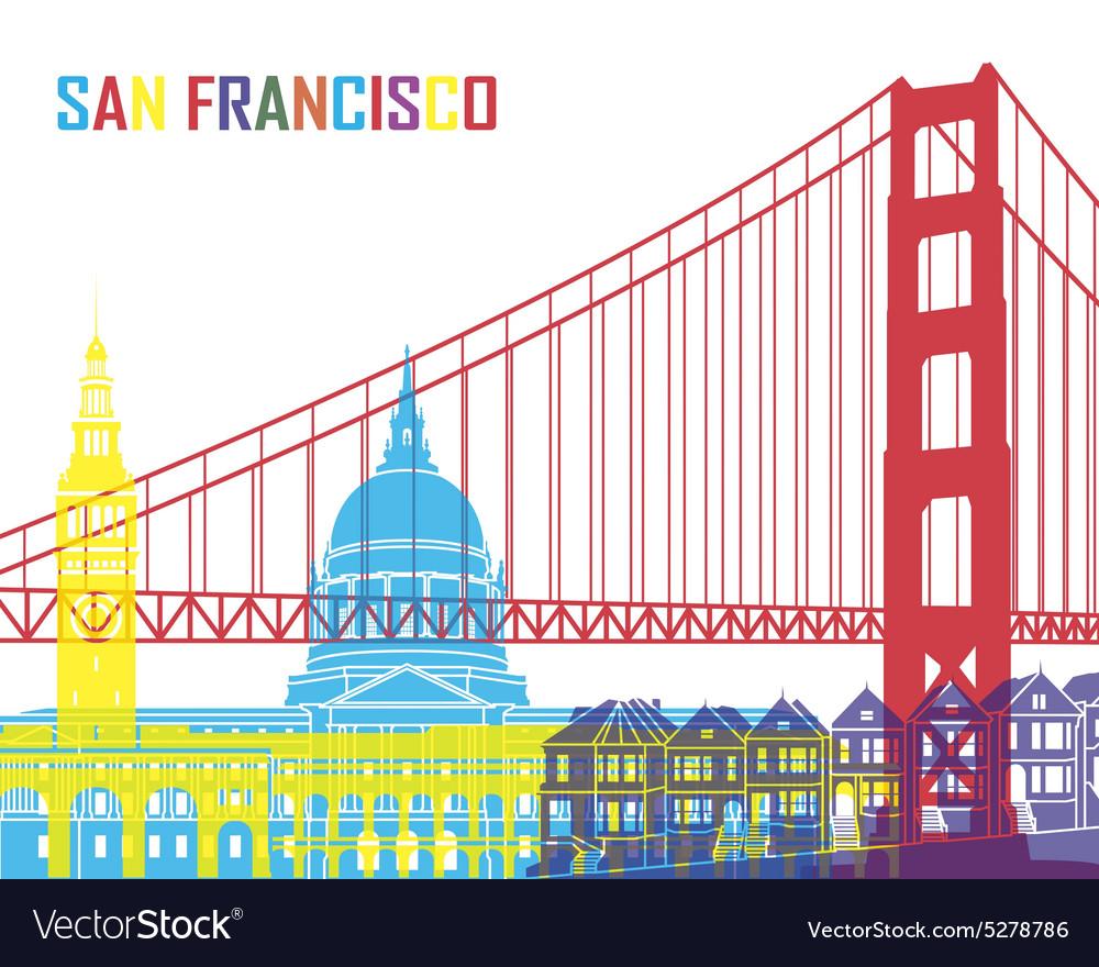 San Francisco skyline pop vector image