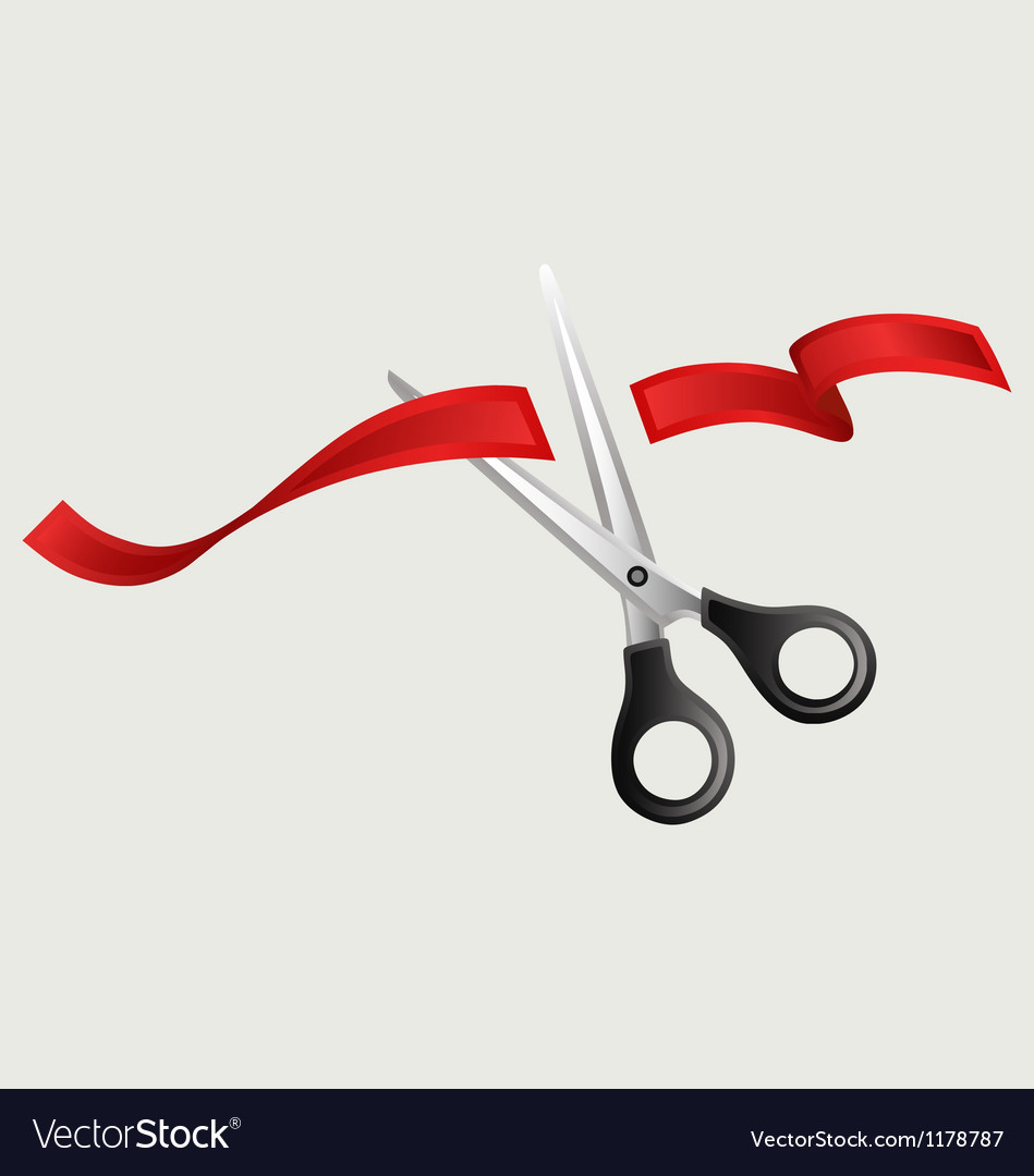 Tape and scissors vector image