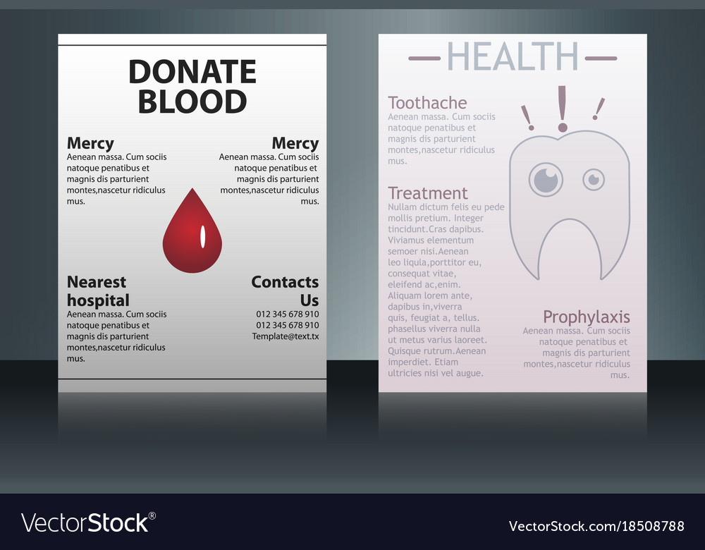 Health care and medical poster brochure flyer