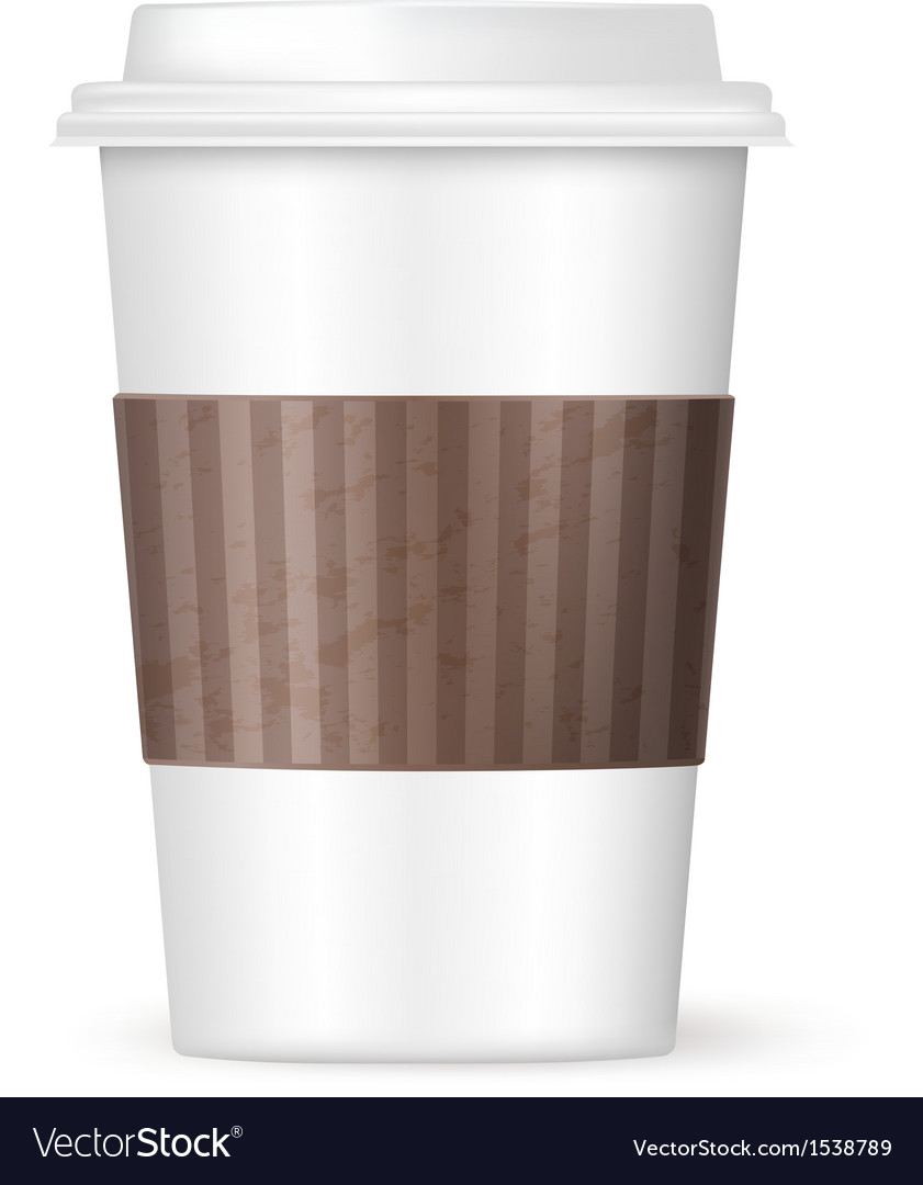 modern coffee cup royalty free vector image  vectorstock - modern coffee cup vector image