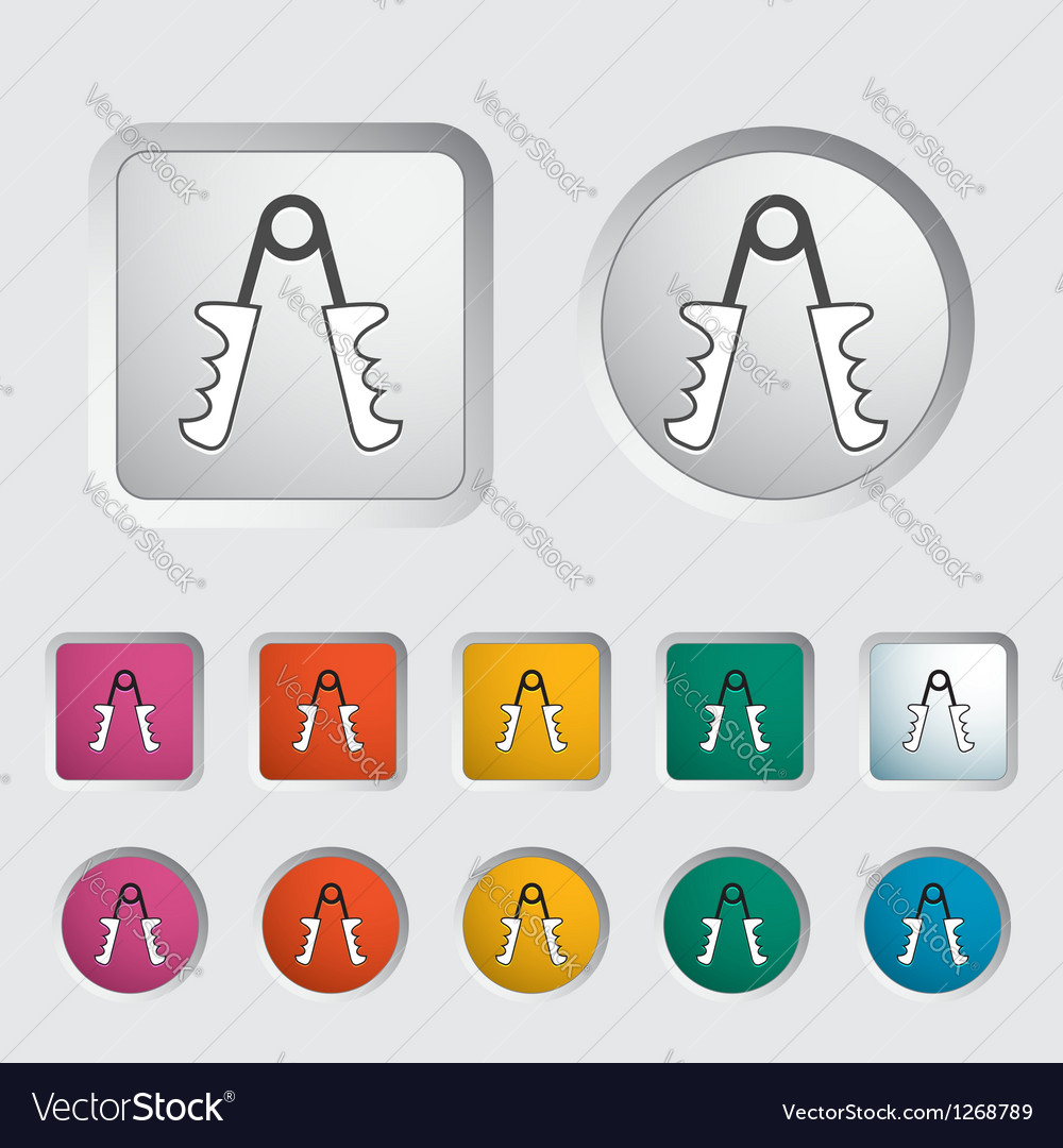 Hand expander vector image