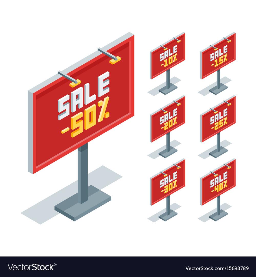 Outdoor advertising billboard vector image
