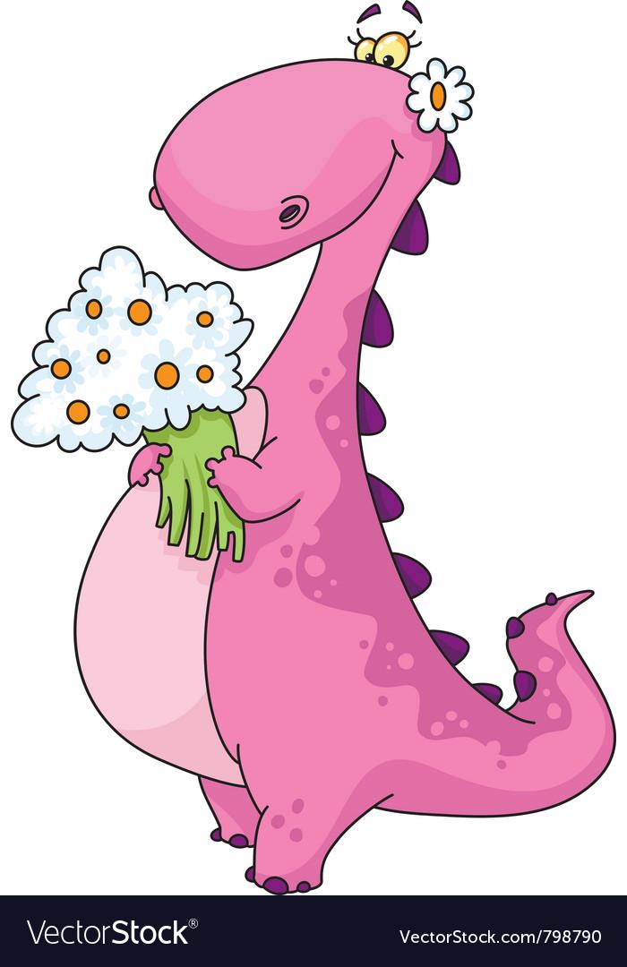 Dinosaur lady vector image