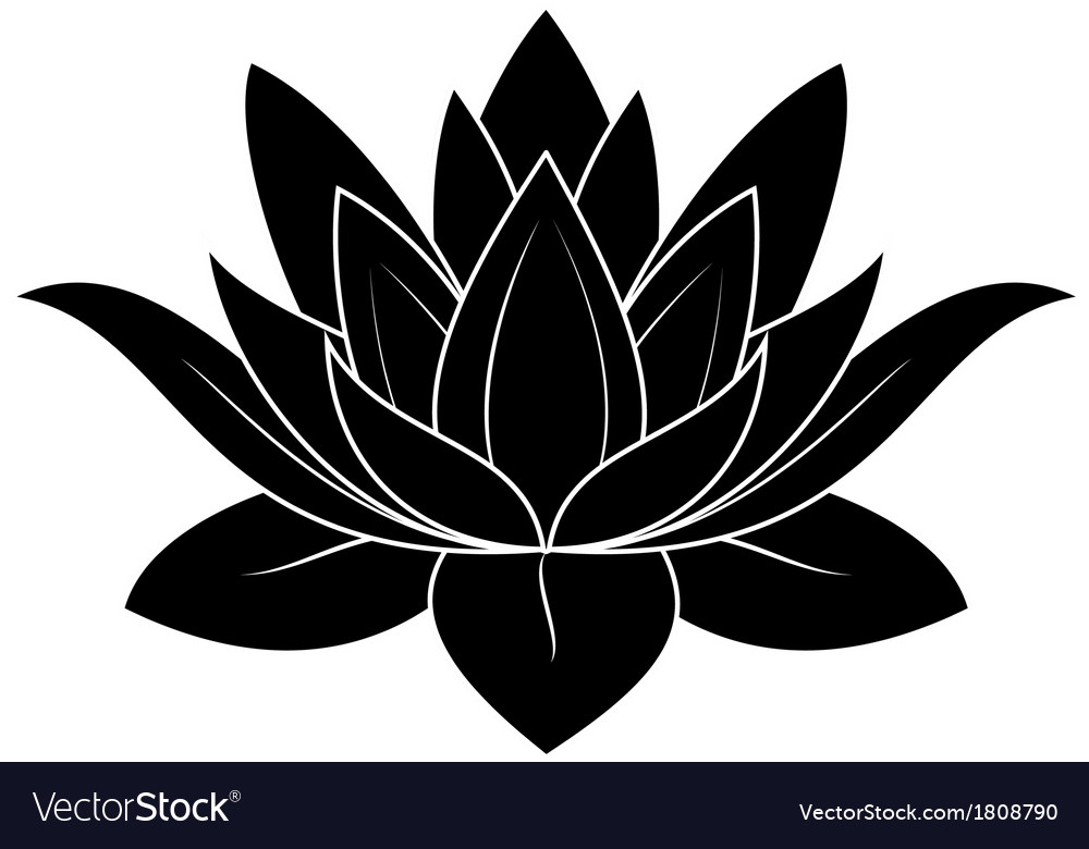Lotus Flower Royalty Free Vector Image Vectorstock