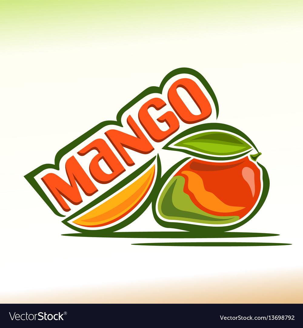 Mango still life vector image