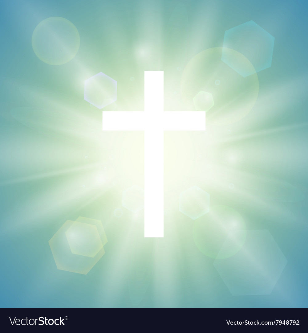 Cross Wallpapers Free: Religious Background With White Cross Royalty Free Vector